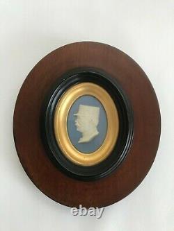 Wedgwood jasperware Portrait Plaque C1860-90 framed in excellent condition