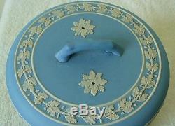 Wedgwood jasperware cheese dome blue & white designs