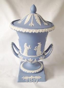 Wedwgood Blue Jasperware Campagna Vase Urn