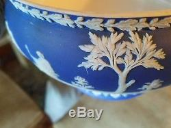 2 Wedgwood Wedgewood Jasperware Jasper Vaisselle Blue Dip Sacrifice Bols Pre 1860
