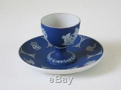 Ancienne Tasse Et Sous-plat Egg Wedgwood Cobalt Blue Egg C. 1870, Refjsw