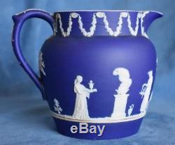Antique Anglais Muses Angels Mythologie Wedgwood Bleu Jasperware Laitière