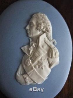 Antiquité 19ème Wedgwood Jasperware Portrait Médaillon Plaque Amiral Lord Nelson