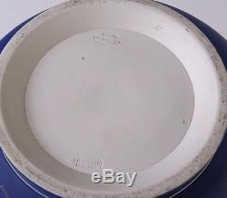 B383 Adams Jardiniere-fox Thème De Chasse Jasperware Cache-pot, Blanc, Bleu Cobalt