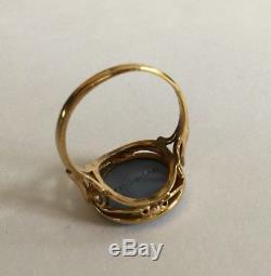 Bague En Or 9 Carats Bleu Wedgewood Jasperware Cameo Uk Taille De Bague L