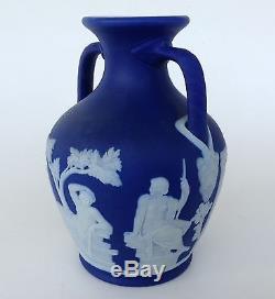 Beau Wedgwood Cobalt Blue Jasper Ware Vase, 5 Portland