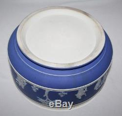 Bol À Salade Et Serviteurs Wedgwood Cobalt Blue Large, C1925 / Vgc