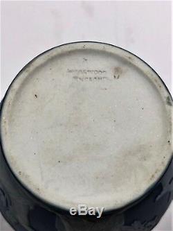 C. 1891 Wedgwood Jasperware Bleu Cobalt Portland Poignée Vase Rare 3,75 H