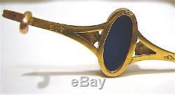Exquis Marqué Antique 9 Ct. Pin De Jasperware De Wedgwood Bleu Dans La Boîte Originale
