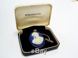 Fine C19th Antique Wedgwood 9ct Gold Mont Jasper Broche Camée Néoclassique