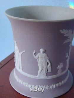 Incroyable Paire De Cache-pots À Jaspe Trempé Lilas Style Wedgwood