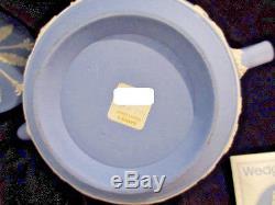 Jasperware Wedgewood Théière Bleue Avec Couvercle Made In England Neuf Jamais Utilisé Kh