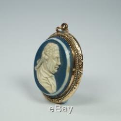 Pendentif Portrait Jasper Jasper Miniature 18ème Siècle