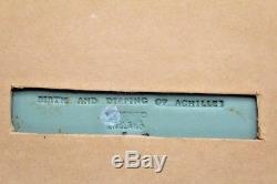 Plaque Encadrée Vintage Wedgwood Jasperware Entitled Naissance & Trempage D'achille