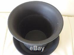 Pot Vintage De Jardinière Wedgwood Black Jasperware
