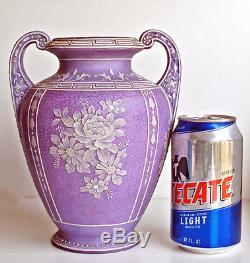 Rare Antique Nippon Wedgwood Vase Moriage Jasperware