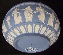 Rare Collectable Wedgwood Jasper Ware Poudre Bleu Grand 10 Menthe Cond Cond