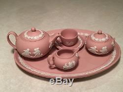 Rare! Mini-mini Jupe-papillon Rose Jasperware Pour Enfant De Wedgwood Vintage