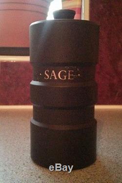 Rare Wedgwood Basalte Noir Jasper Design 63 Pots À Épices Robert Minkin