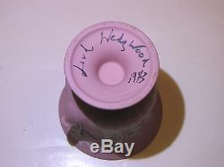 Signé Lord Wedgwood Urne Miniature En Jaspe Massif C. 1982