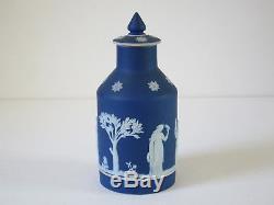 Théière De Thé De Thé De Jasper Blue Cobalt Wedgwood Antique Début Des Années 1900, Refjsw