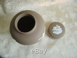 Très Rare Pot De Gingembre De Jaspe Marron Wedgwood Taupe