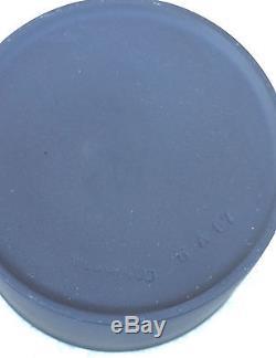 Vintage Wedgwood Basalt Black Jasperware Creamer Et Sucrier Avec Couvercle