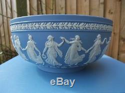 Vintage Wedgwood Blue Jasperware Grand Bol Les Heures De Danse C1994