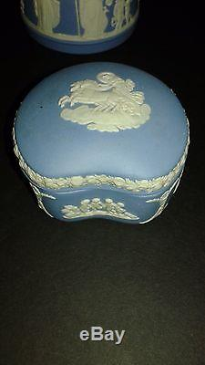 Vintage1951 Wedgwood Made In Angleterre Bleu Clair Jasperware 6 Pièces + 1 Lot Supplémentaire