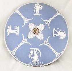 Wedgwood Blue Jasperware 11.25 Lustre Plafonnier Four Seasons