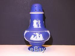 Wedgwood Dark Blue Dip Jasper Ware Imperial Popper Pot Ou Shaker C. 1900
