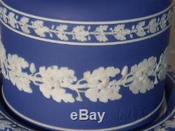 Wedgwood Dark Blue Jasperware Trempé Gâteau Ou Fromage Dome-1875