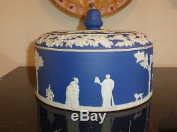 Wedgwood Grand Dôme De Jasperware Vintage Bleu Foncé