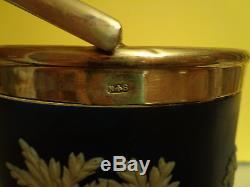 Wedgwood Jasperware Biscuit Pot Sterling LID