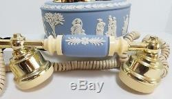 Wedgwood Jasperware Cadran Rotatif Astral Telecom Anglais Téléphone Bleu 1986
