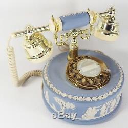 Wedgwood Jasperware Rotary Dial Téléphone Astral Telecom Anglais Bleu 1986