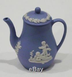Wedgwood Mini / Jasperware Blue 12 Pièces De Thé Et De Café Dans De Nouvelles Boîtes