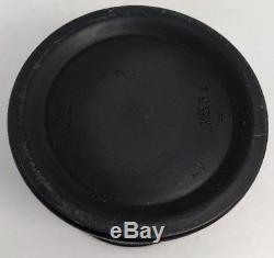 Wedgwood Noir Basalt Jasperware Récipient À Couvercle Rond Tobacco Jar 5c