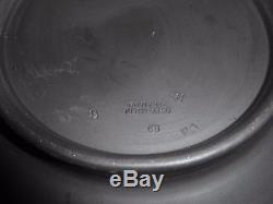 Wedgwood Noir Et Crème Jasperware Round Sacrifice Bowl 7.5 Large
