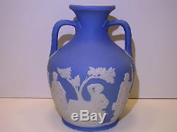 Wedgwood Pale Blue Dip Jasper Ware Vase Portland C. 1840