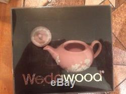 Wedgwood Pink Jasper Ware Miniature Tea Set 10 Pièces Antique Vintage