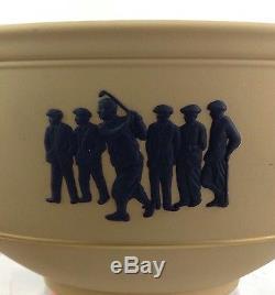 Wedgwood Primrose Jaune Et Noir Jasperware 2003 Wgc-nec Golf Trophy Ltd Ed 120