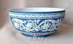 Wedgwood Royalty Reine Elizabeth 40e Anniversaire Bleu De Jasperware Bleu Foncé 1992