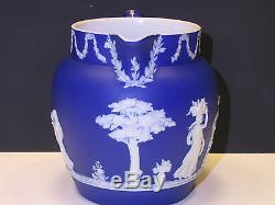 Wedgwood Trempette Bleu Foncé Jasper Ware Dutch Jug C. 1900