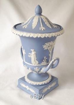 Wedwgood Blue Jasperware Campagna Vase Urne